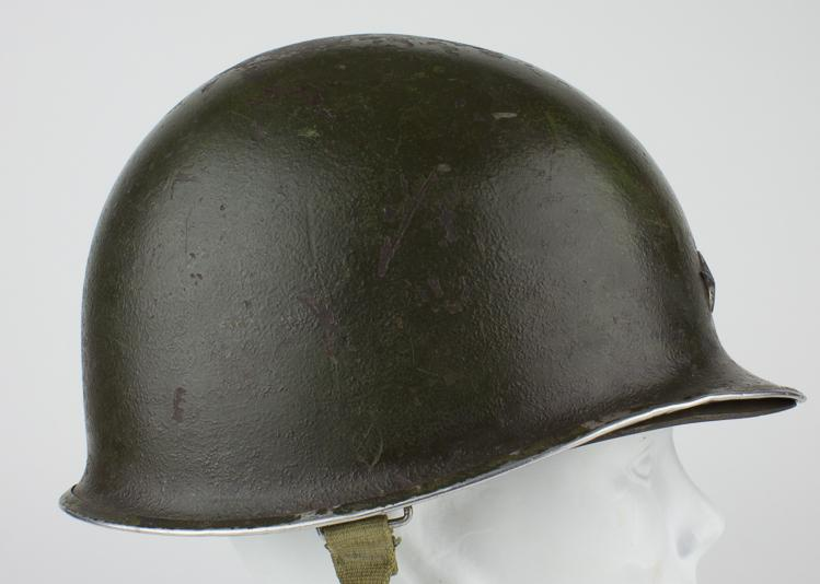 THE TWO-STAR GENERAL''S HELMET OF GEN. WILLIAM H. H. MORRIS, JR., WORN WHEN HE RELIEVED BASTOGNE