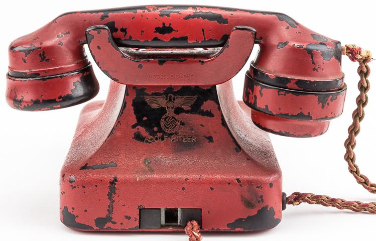 ADOLF HITLER'S PERSONAL PRESENTATION TELEPHONE, RECOVERED FROM THE FUHRERBUNKER