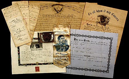 PERSONAL EFFECTS OF SGT. HENRY KINTZ, 200TH PA. VOLS.