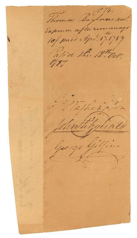 GEORGE WASHINGTON - Current Bid: $4,250.00