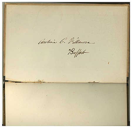 THE LIBRARY OF FIRST LADY CAROLINE C. FILLMORE - Current Bid: $15,000.00