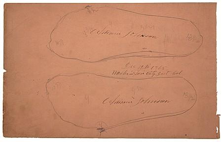 ANDREW JOHNSON'S FOOTPRINT SKETCHES - Current Bid: $2,000.00