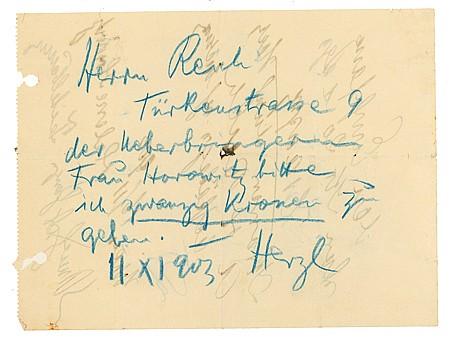 THEODORE HERZL - Current Bid: $300.00