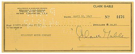 CLARK GABLE - Current Bid: $160.00