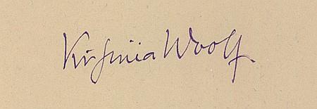 VIRGINIA WOOLF - Current Bid: $800.00
