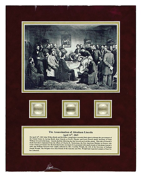 LINCOLN ASSASSINATION DEATH SHEET RELIC