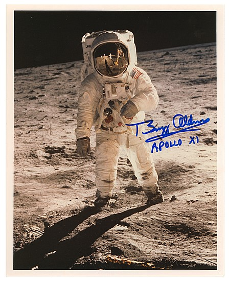 """EDWIN A. """"BUZZ"""" ALDRIN AND MORE - Current Bid: $120.00"""