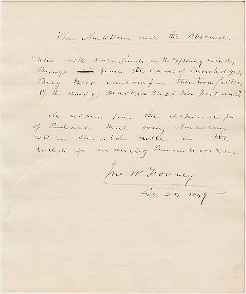 JOHN W. FORNEY - Current Bid: $80.00