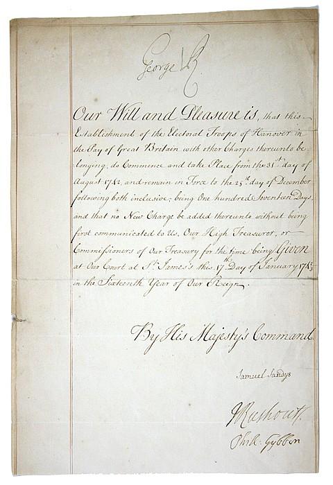 GEORGE II - Current Bid: $180.00