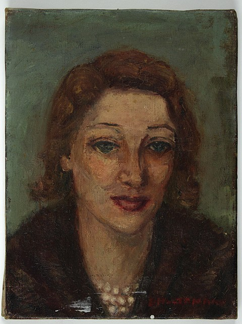 AN ORIGINAL PAINTING OF GERTRUDE LAWRENCE BY FANNY HOLTZMANN - Current Bid: $200.00