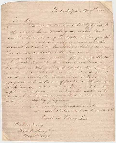 (RICHARD HENRY LEE) JOSEPH COSEY - Current Bid: $260.00