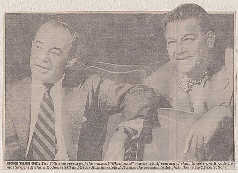 RICHARD RODGERS AND OSCAR HAMMERSTEIN - Current Bid: $260.00