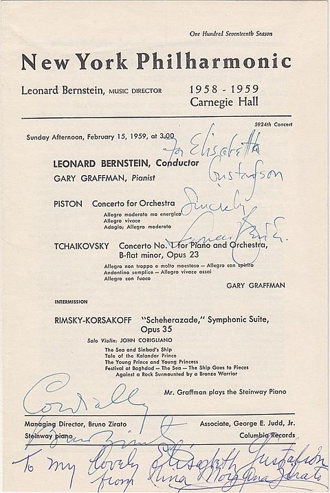 LEONARD BERNSTEIN - Current Bid: $50.00