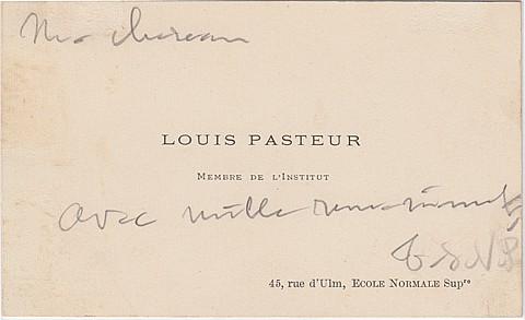 LOUIS PASTEUR - Current Bid: $340.00
