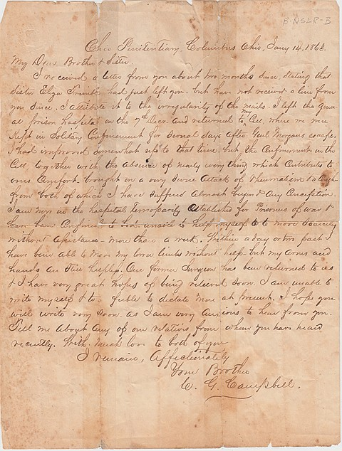 JOHN HUNT MORGAN ESCAPES AND HIS FELLOW PRISONERS ARE THROWN INTO SOLITARY - Current Bid: $320.00