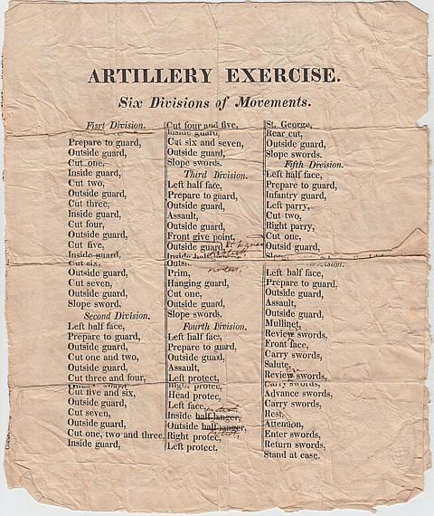 WAR OF 1812 PERIOD ARTILLERY EXERCISE