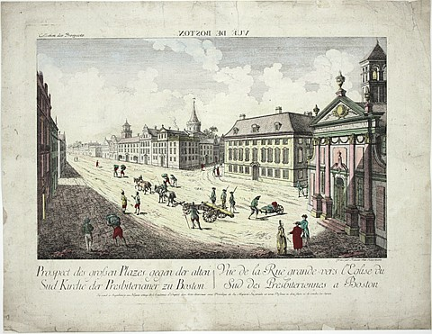 EIGHTEENTH CENTURY ENGRAVING OF BOSTON - Current Bid: $500.00