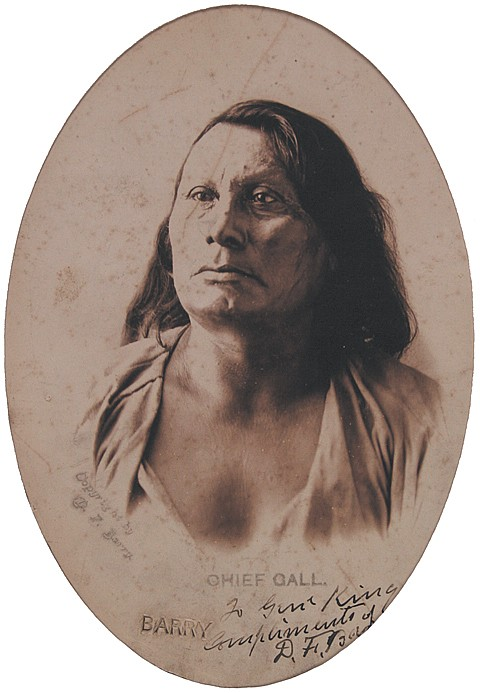"""D. F. BARRY'S """"CHIEF GALL - PHOTO FROM LIFE"""""""