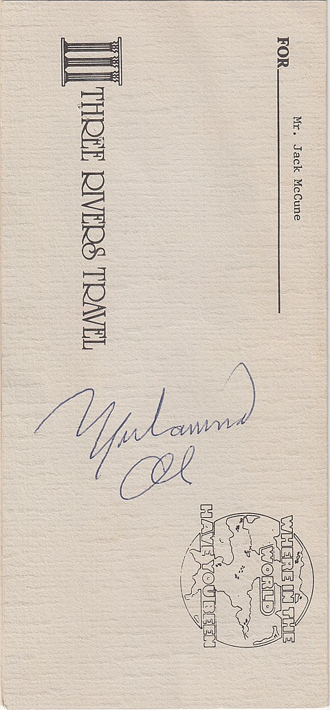 MUHAMMAD ALI AND OTHER SPORTS GREATS - Current Bid: $300.00