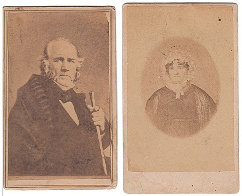 (SAM HOUSTON AND HIS MOTHER-IN-LAW, NANCY LEA) - Current Bid: $140.00