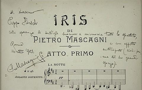PIETRO MASCAGNI AND BENIAMINO GIGLI - Current Bid: $160.00
