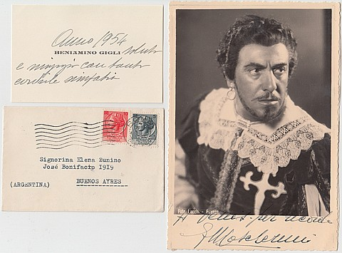 COMPOSERS, OPERA GREATS AND VINTAGE STAGE STARS