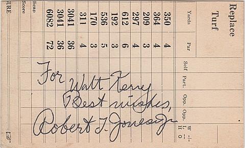 """ROBERT T. """"BOBBY"""" JONES - Current Bid: $380.00"""
