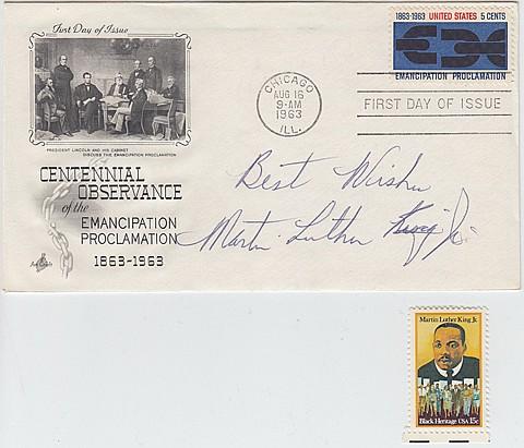 REV. MARTIN LUTHER KING, JR. - Current Bid: $950.00