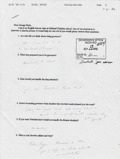GEORGE W. BUSH - Current Bid: $1,000.00