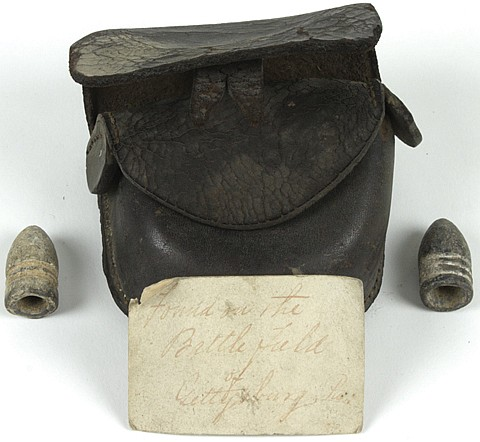 UNION CAP BOX RECOVERED AT GETTYSBURG, WITH EARLY TAG - Current Bid: $300.00