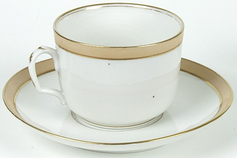 ABRAHAM LINCOLN WHITE HOUSE TEACUP AND SAUCER - Current Bid: $850.00