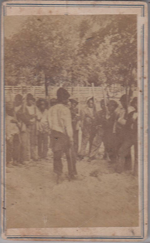 PHOTOGRAPH OF SLAVE CHILDREN AT PLAY - Current Bid: $1,300.00