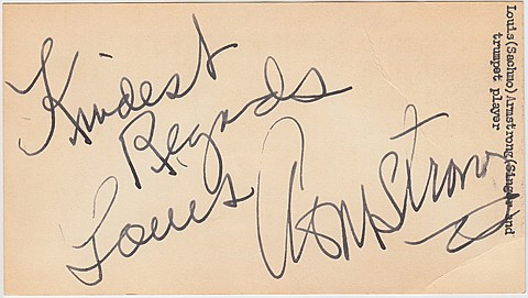 LOUIS ARMSTRONG - Current Bid: $90.00