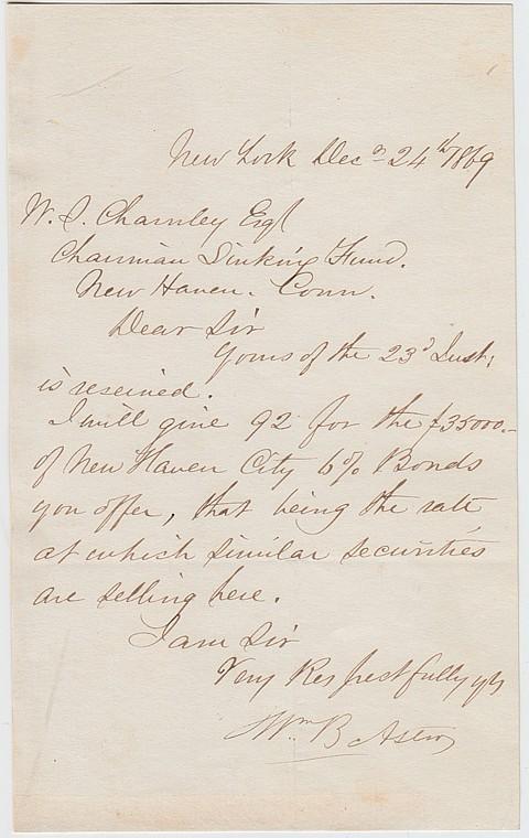 WILLIAM B. ASTOR - Current Bid: $180.00