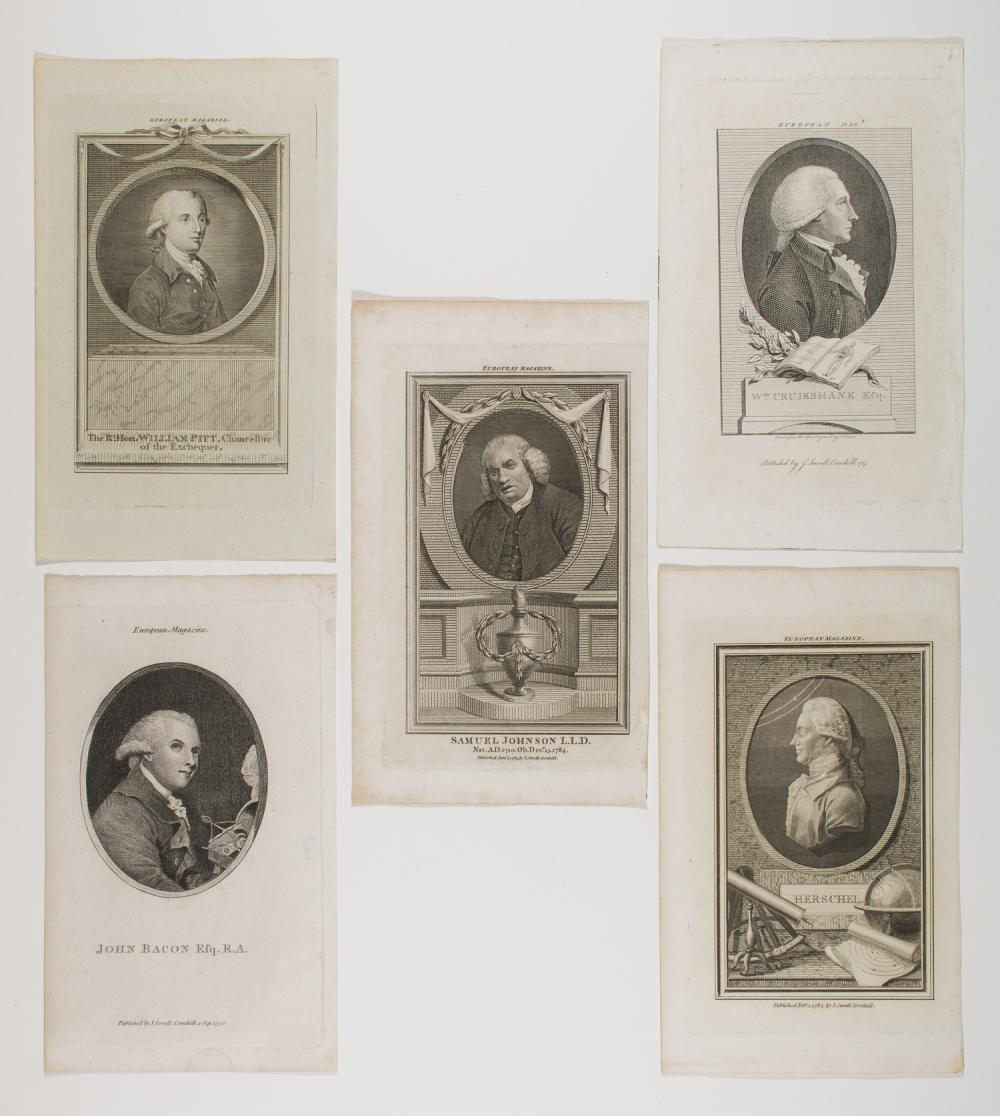 ENGRAVED PORTRAITS OF BRITISH NOTABLES (5)
