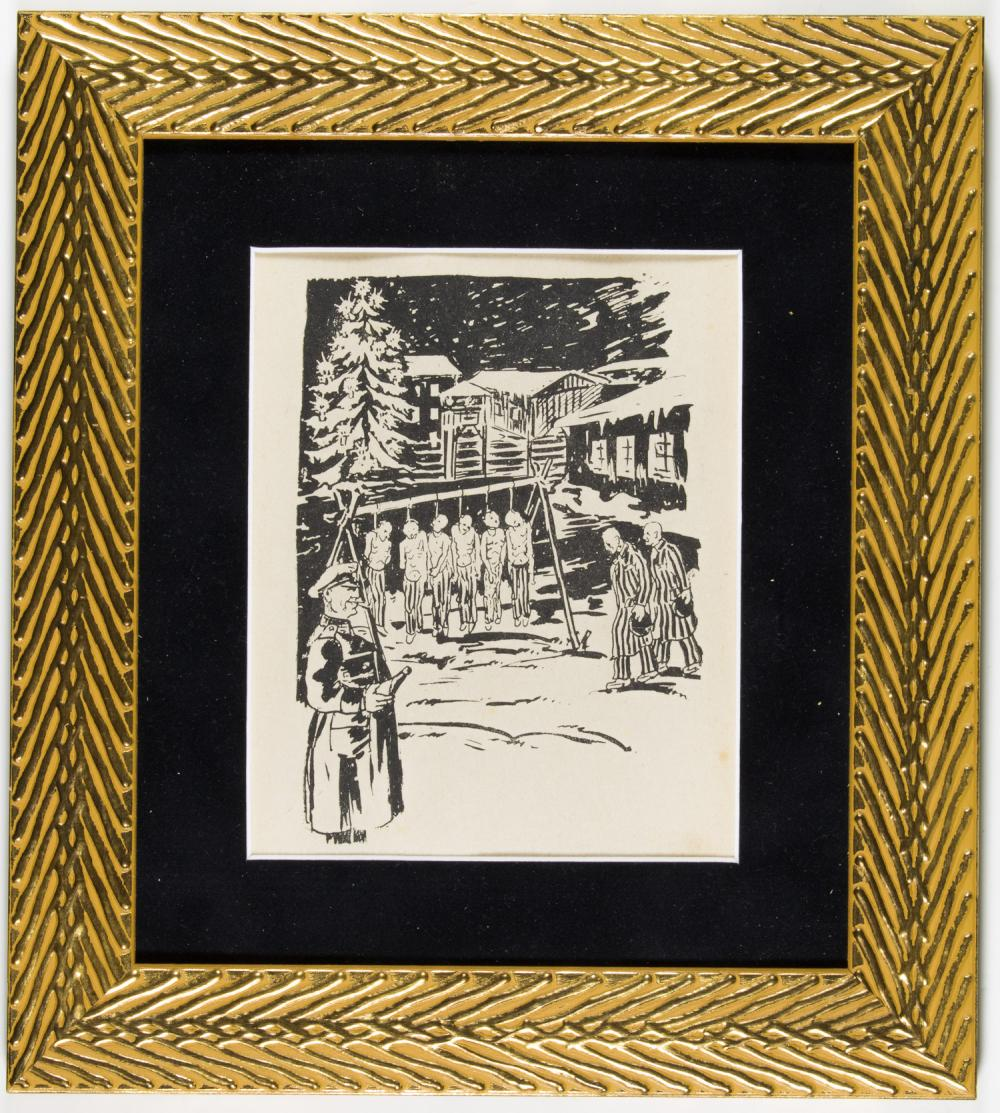 HOLOCAUST PRINTS SHOW HORRORS IN FLOSSENBERG CONCENTRATION CAMP (12)