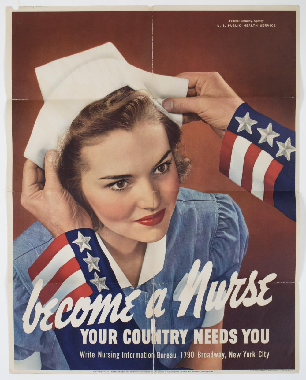 'BECOME A NURSE...YOUR COUNTRY NEEDS YOU'