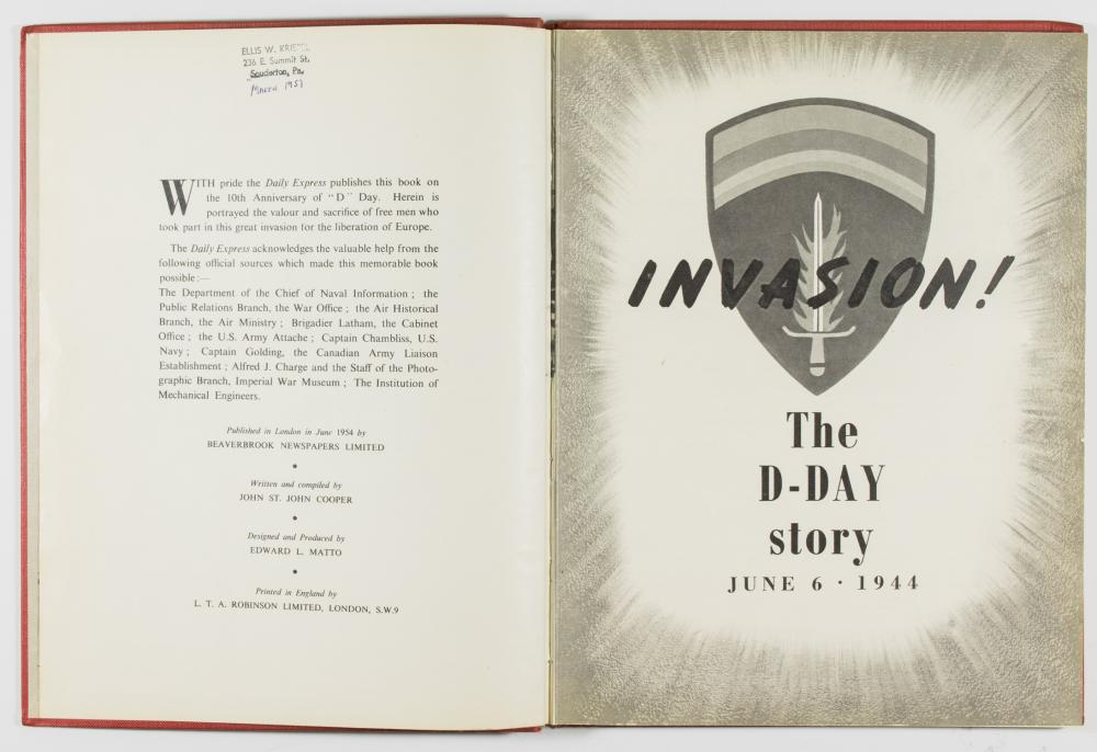 'INVASION: THE D-DAY STORY' PICTURE BOOK