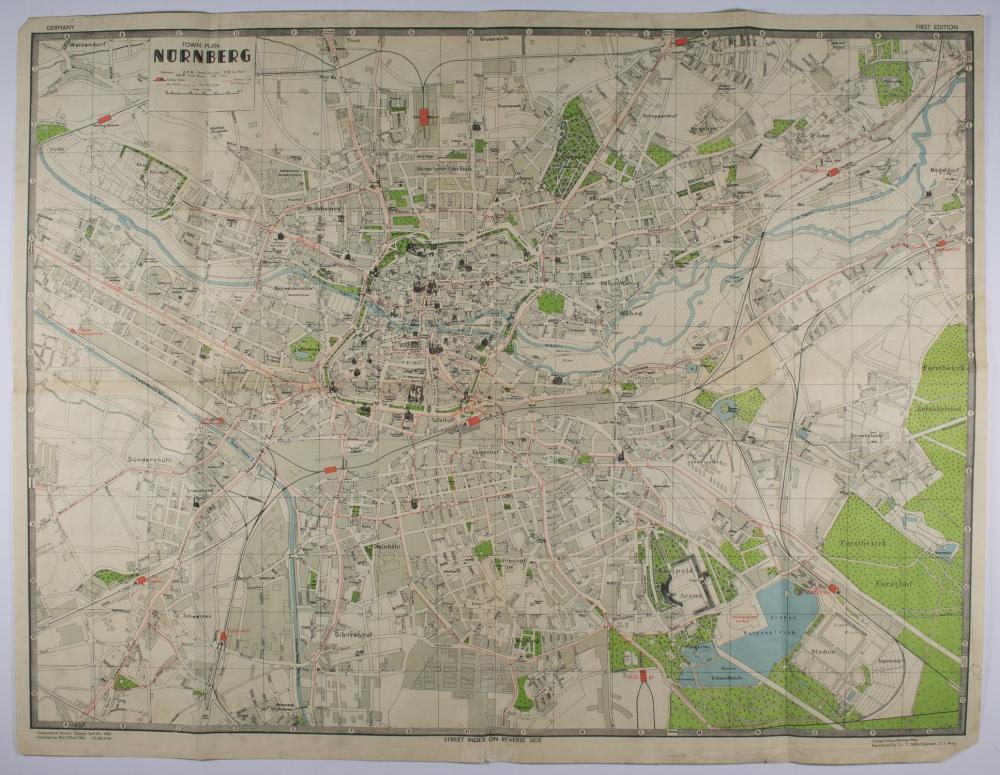 'TOWN PLAN OF NUREMBERG' MAP