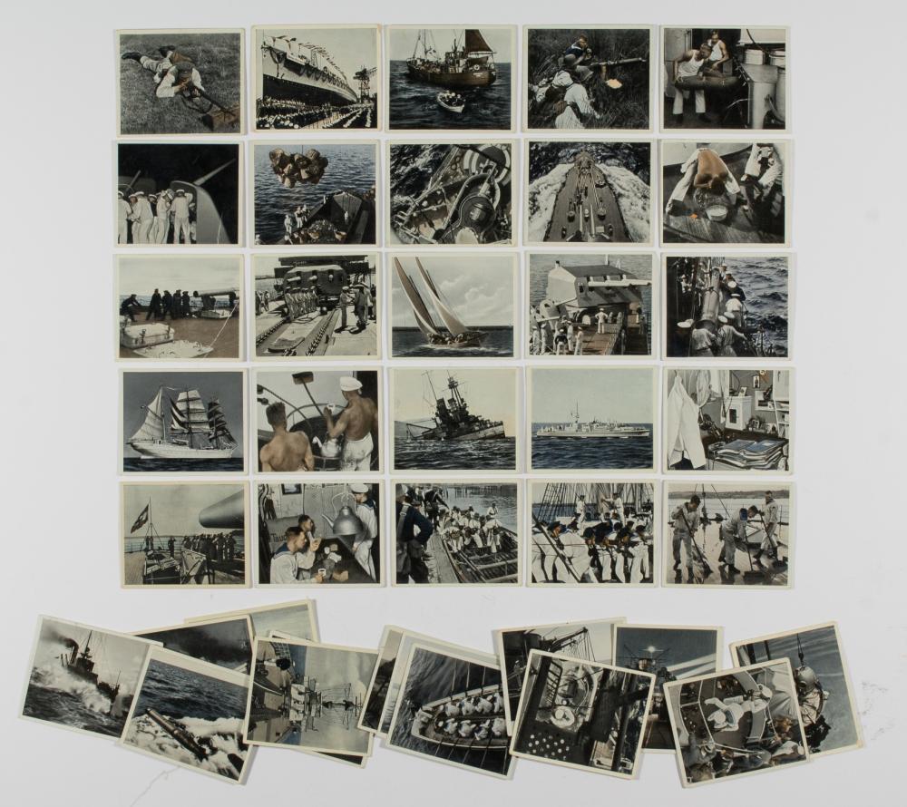 KRIEGSMARINE CIGARETTE CARDS (40)