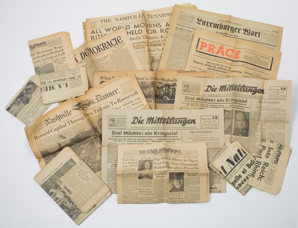WORLD WAR II NEWSPAPERS (14)