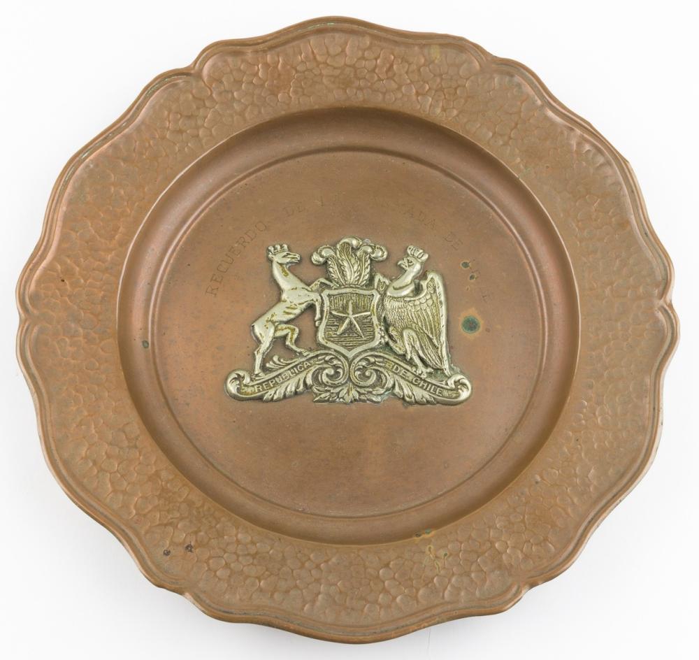 CHILEAN NAVY MEMORIAL PLATE