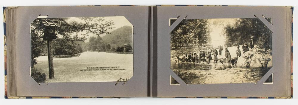 CHINA, JAPAN AND SOUTH PACIFIC POSTCARD ALBUM