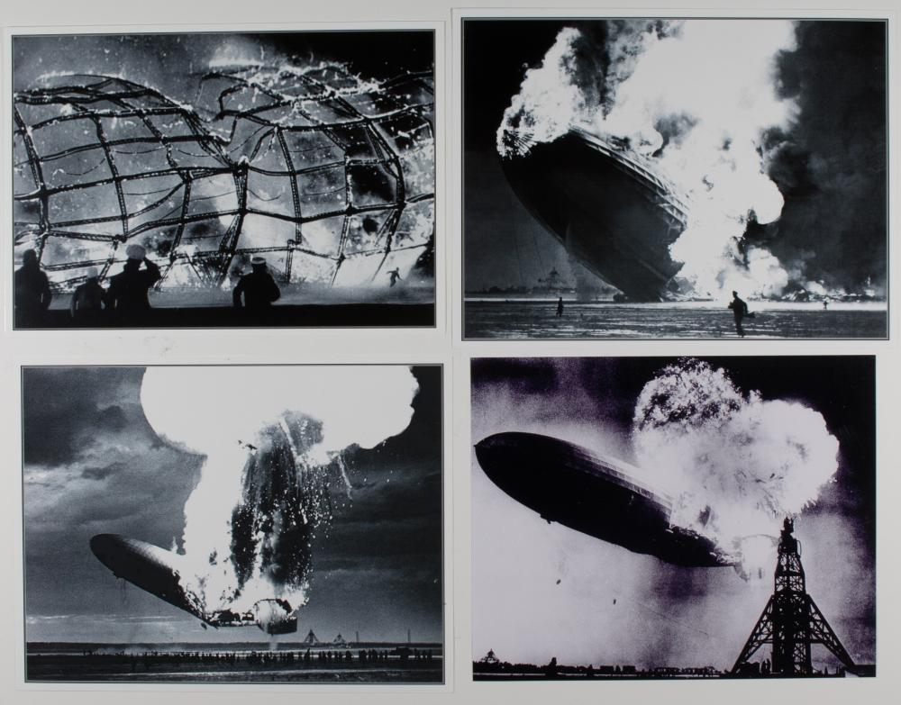 HINDENBURG DISASTER PHOTOGRAPHS (5)