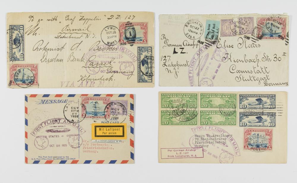 ZEPPELIN FIRST FLIGHT COVERS (4)
