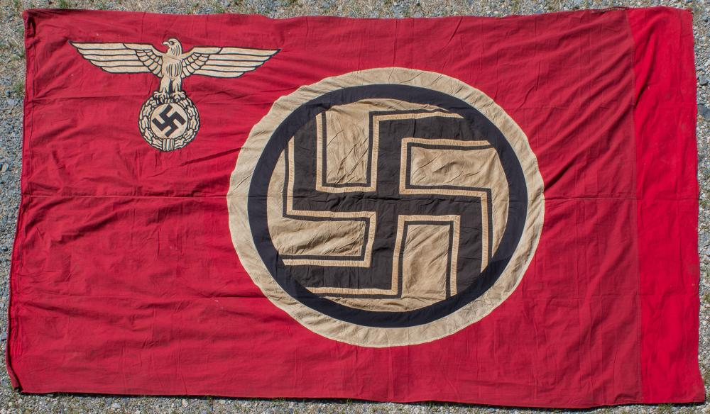 EMBROIDERED WWII GERMAN STATE SERVICE FLAG