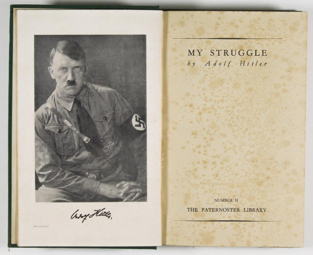 ADOLF HITLER SIGNED ENGLISH COPY OF ''MEIN KAMPF''
