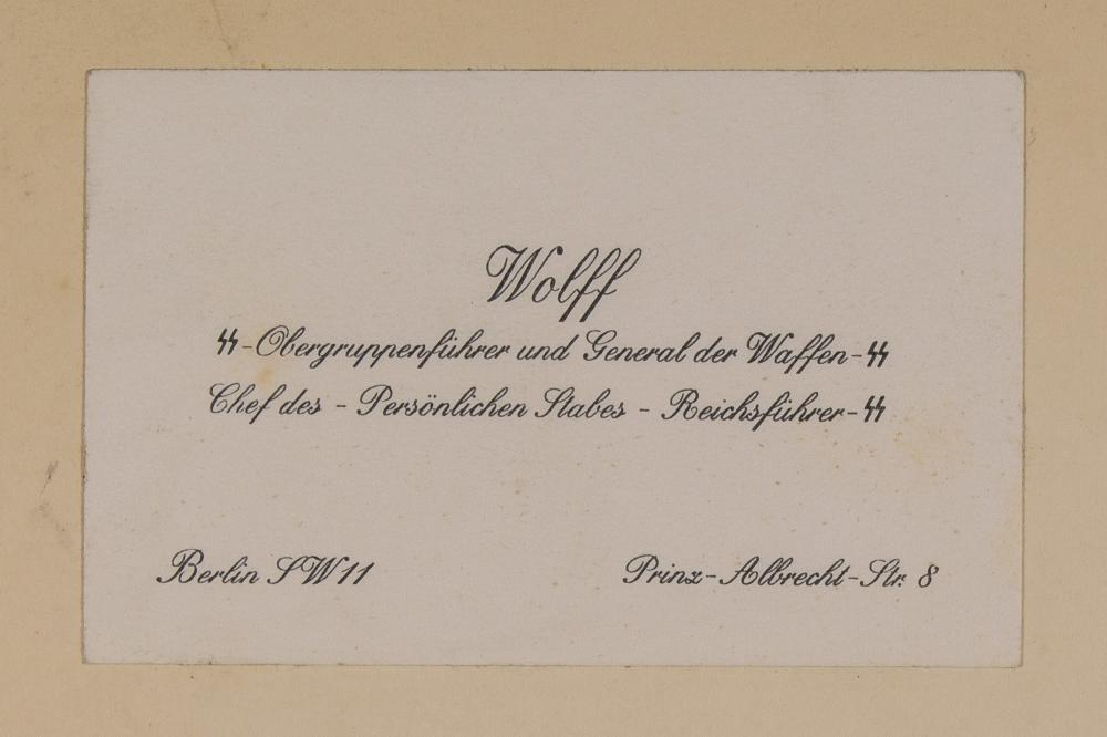 CIGARETTE ALBUM FROM THE LIBRARY OF HIMMLER''S LIAISON OFFICER, KARL WOLFF