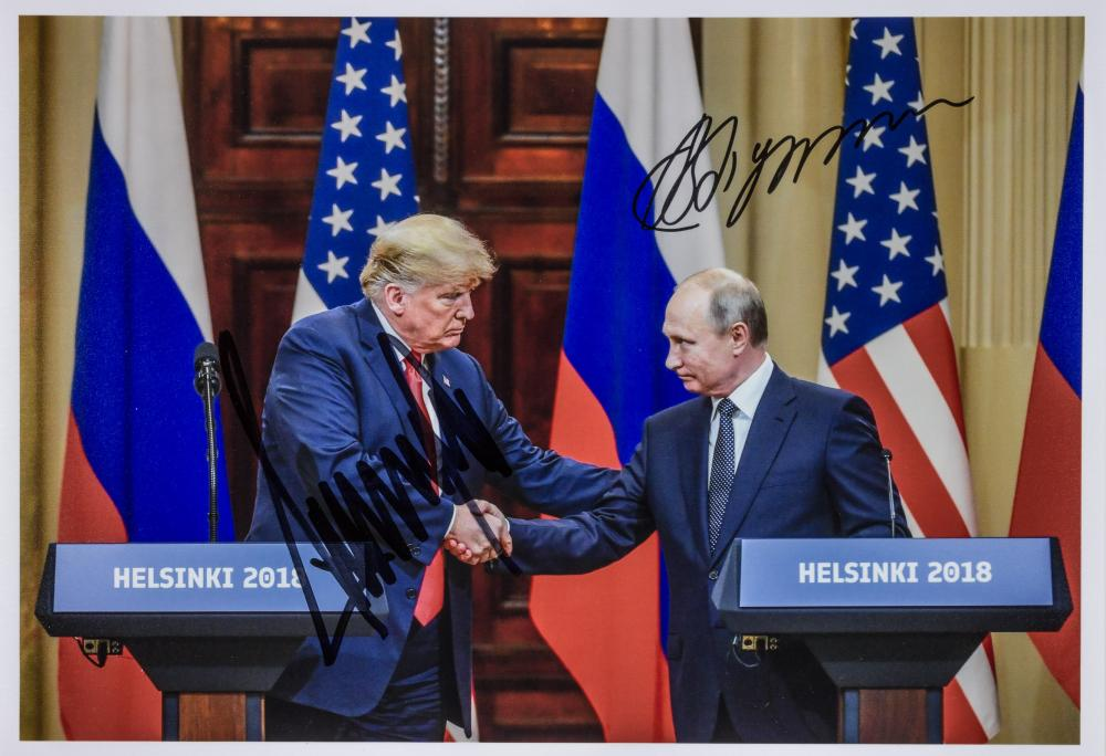 DONALD TRUMP AND VLADIMIR PUTIN SIGNED PHOTOGRAPH