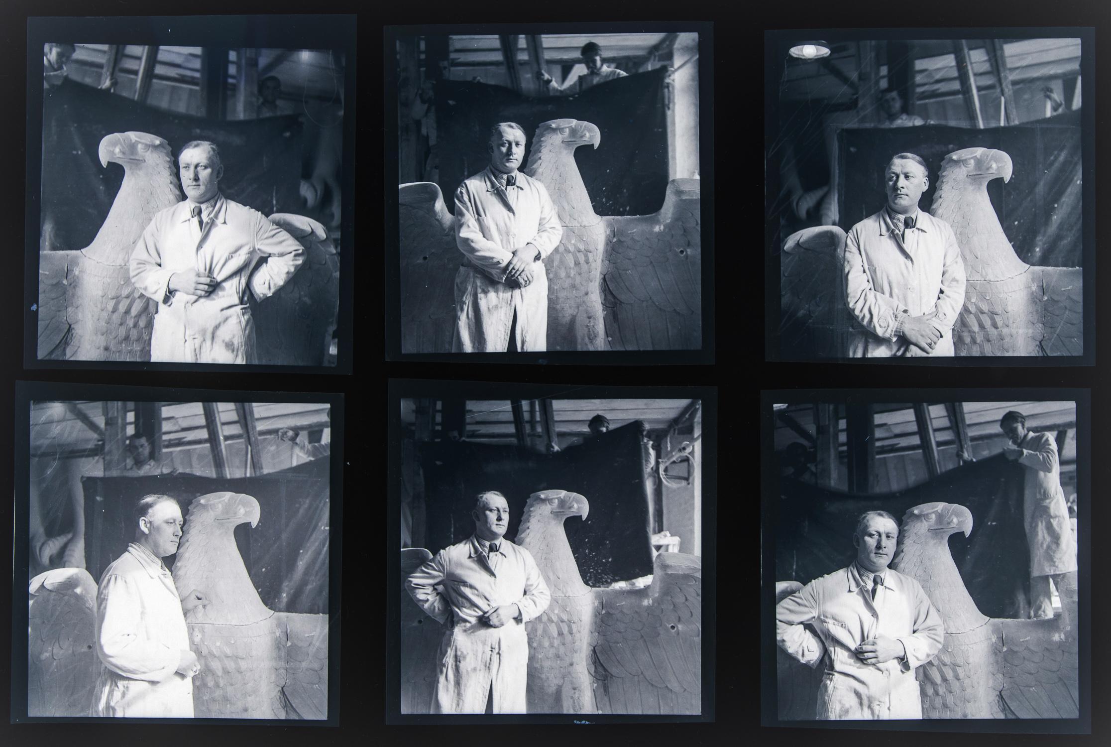 KURT SCHMID EHMEN PHOTOGRAPH NEGATIVE ARCHIVE - CREATOR OF THE NAZI EAGLE